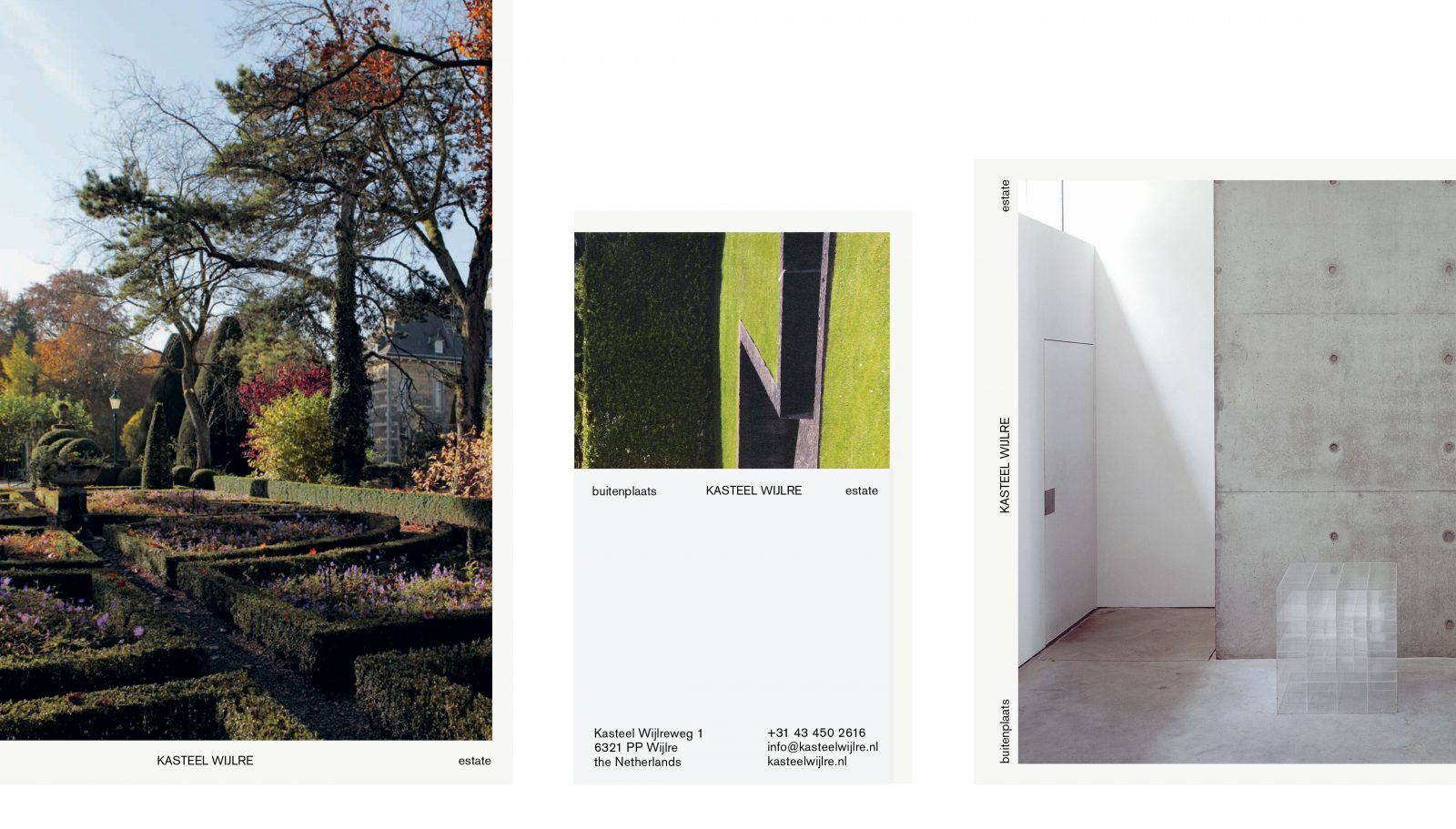 Maarten Kanters - Kasteel Wijlre estate – visual identity development, website and printed collateral<br /> As Agency Agency