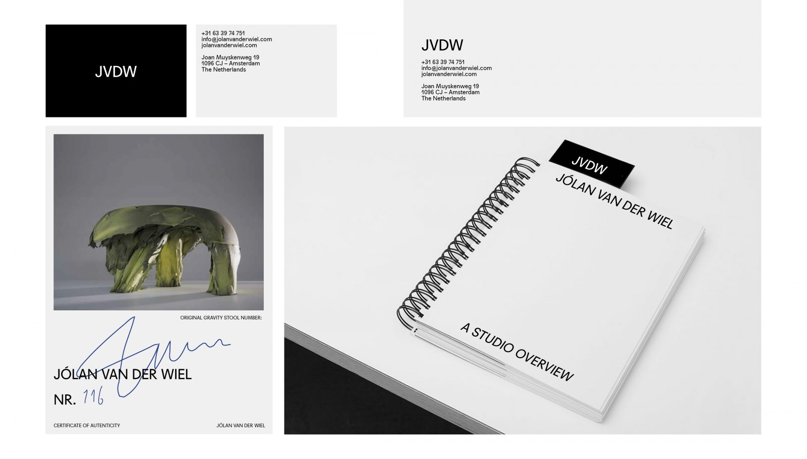 Maarten Kanters - Jólan van der Wiel – visual identity development, website and printed collateral