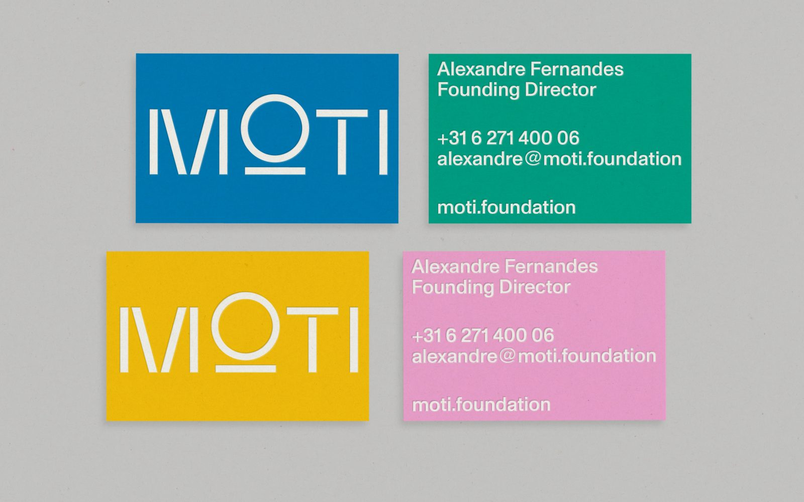Maarten Kanters - MOTI – visual identity development, website and printed collateral.<br /> As Agency Agency and with François Girard-Meunier.